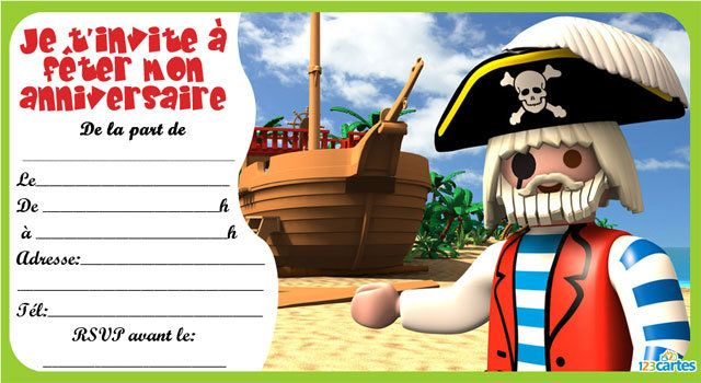 invitation anniversaire playmobil