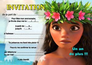 invitation anniversaire vaiana