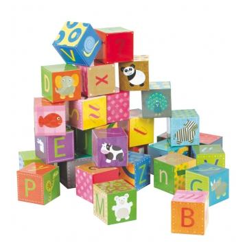 jeu cube bois