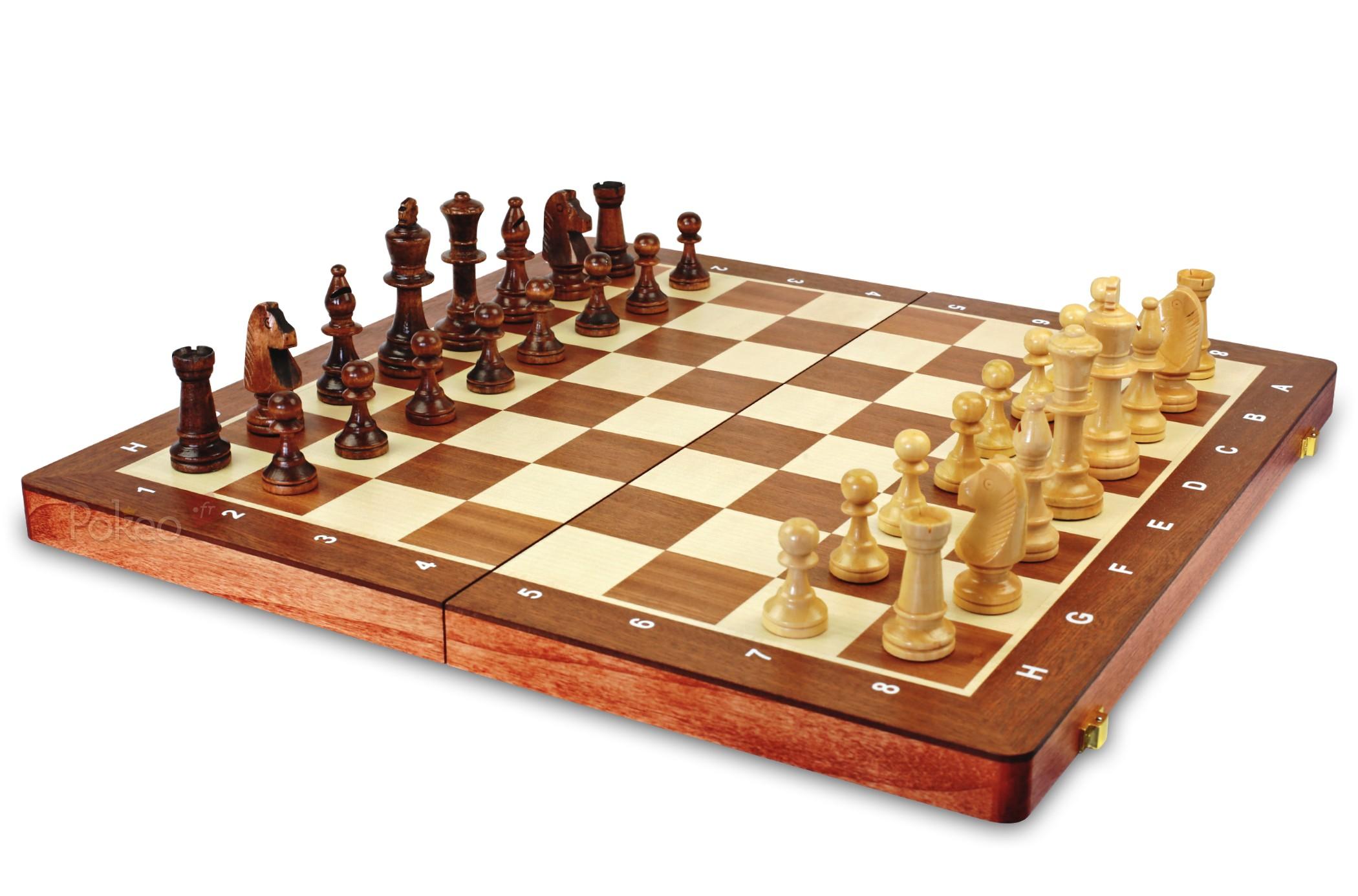 jeu d échec en bois
