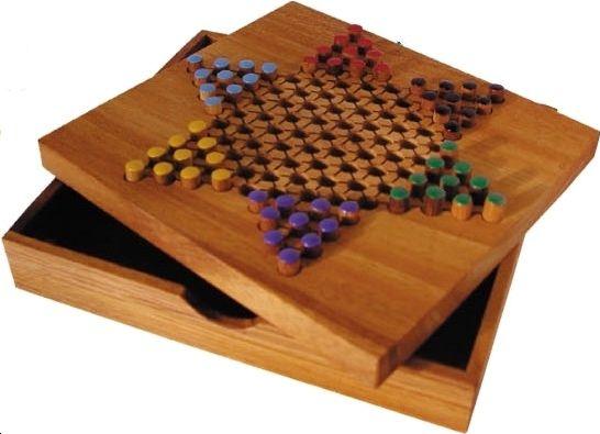 jeu de dames chinoises en bois