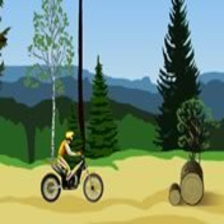 jeu de moto dans la foret