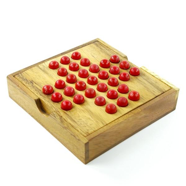 jeu du solitaire en bois