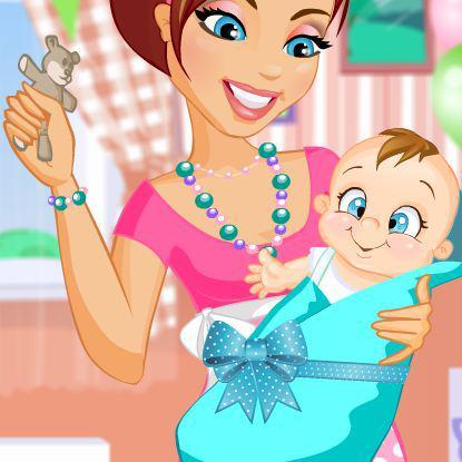jeux d habillage de bebe et sa maman