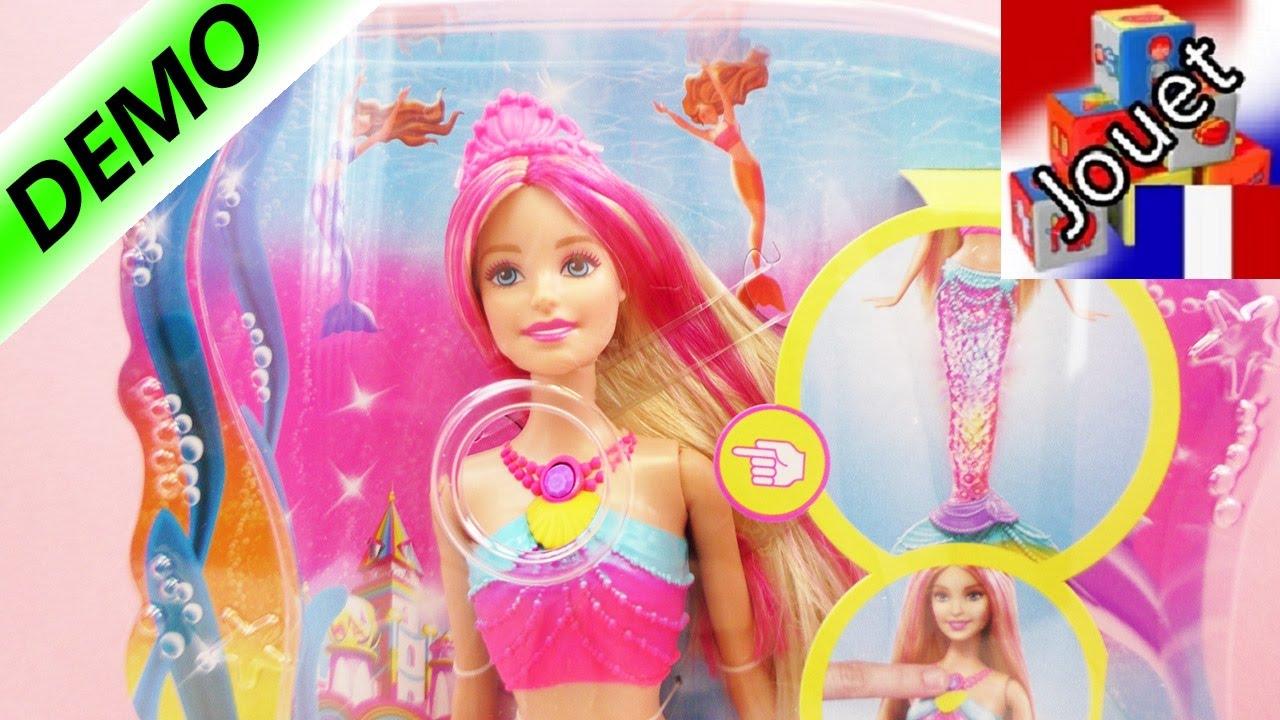 jeux de barbie sirene qui nage