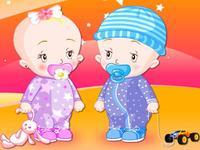 jeux de bebe jumelles