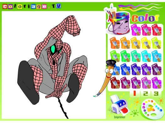 jeux de spiderman coloriage