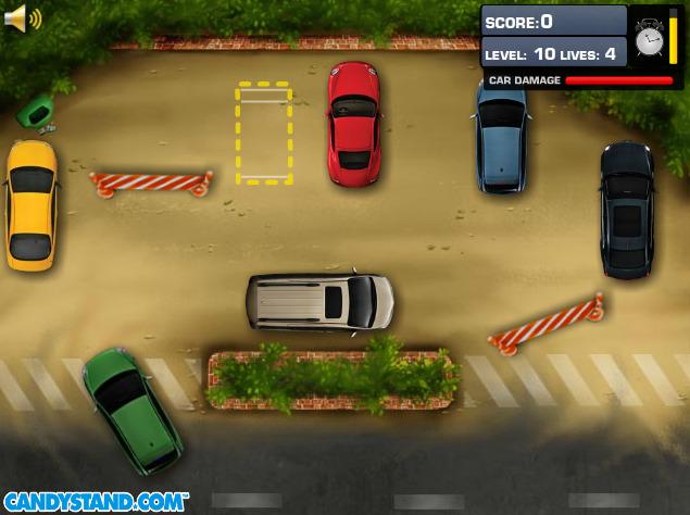 jeux de voiture à garer en ville