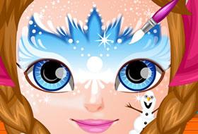 jeux maquillage reine des neiges