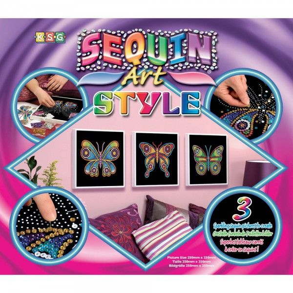 kit sequin art style papillon