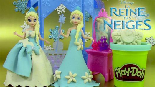la pâte à modeler de la reine des neiges