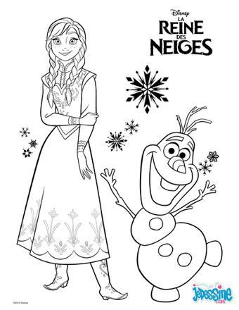 la reine des neiges à colorier