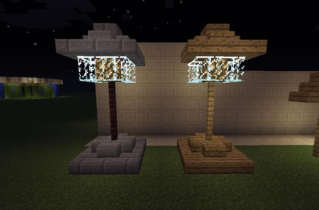 lampadaire minecraft