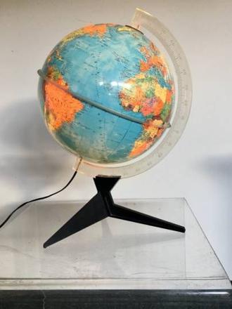 lampe mappemonde vintage