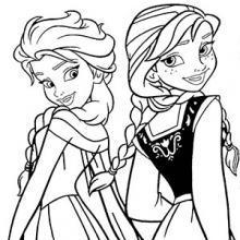 le dessin de la reine des neiges