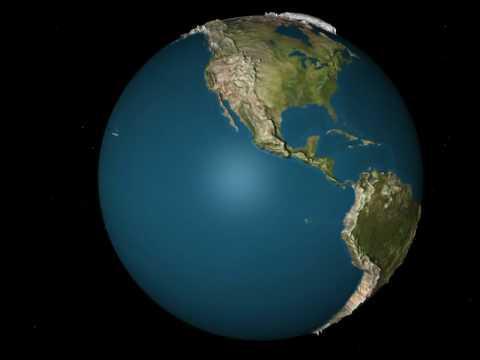 le globe terrestre en 3d