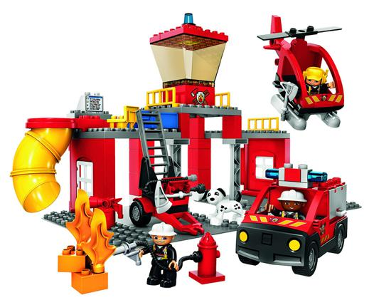 lego duplo pompiers caserne