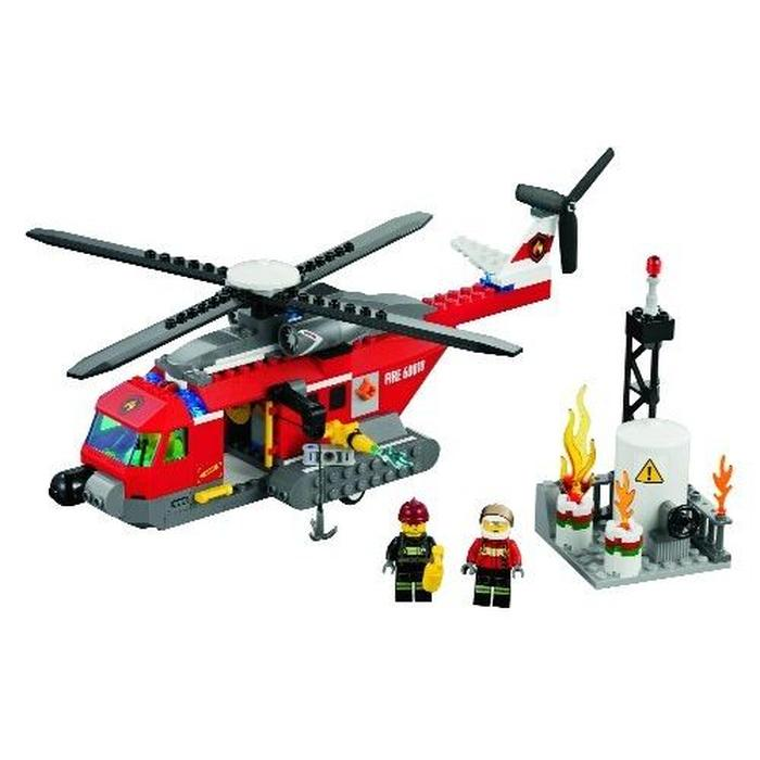 lego helicoptere pompier