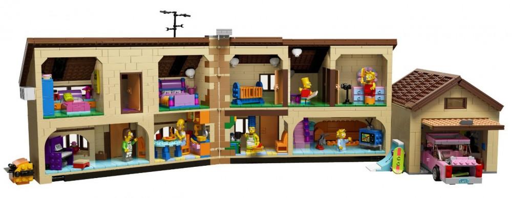 lego simpson maison