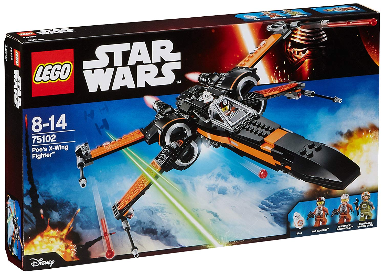 lego star wars poe's x wing fighter