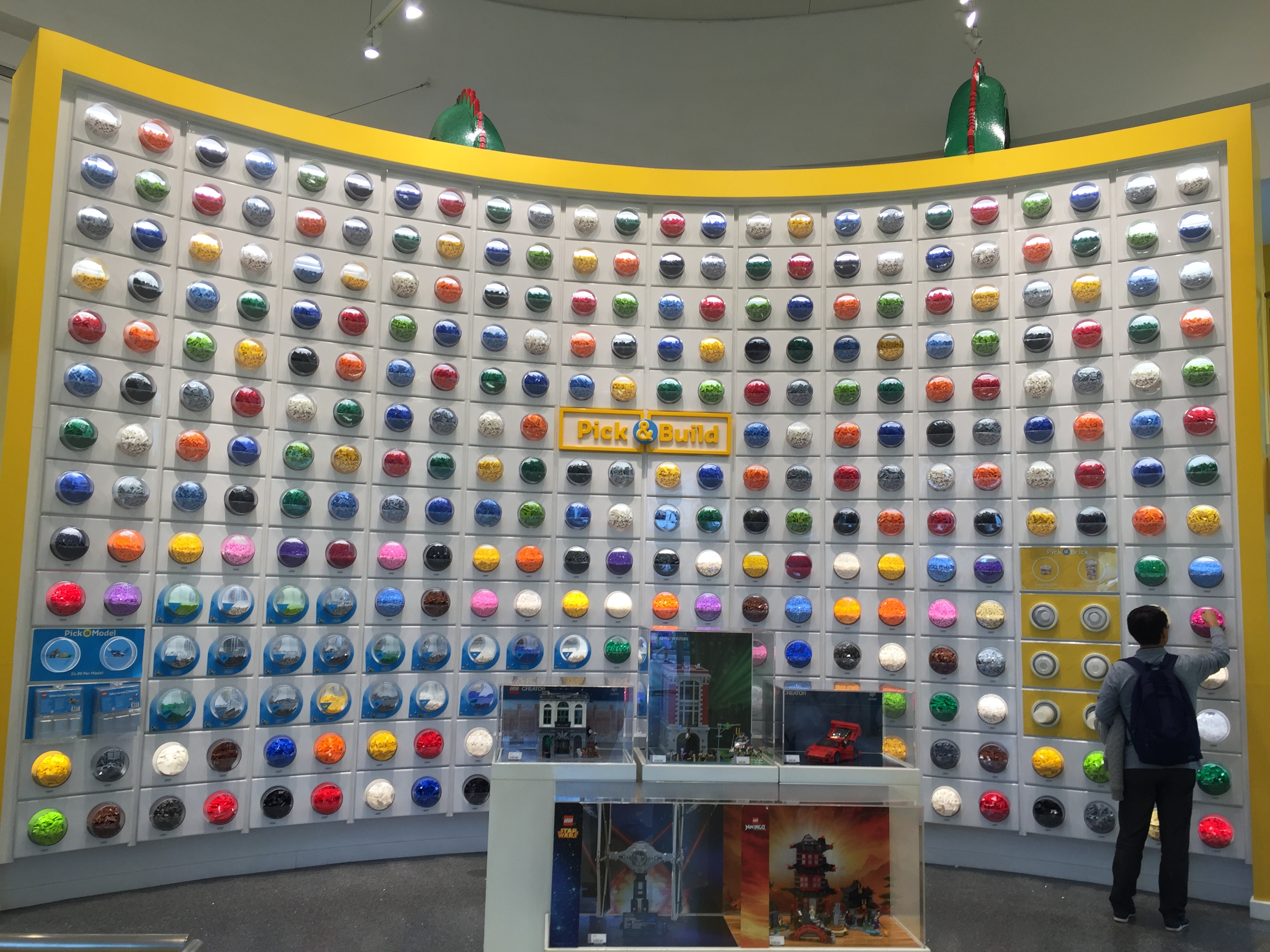 lego store wall