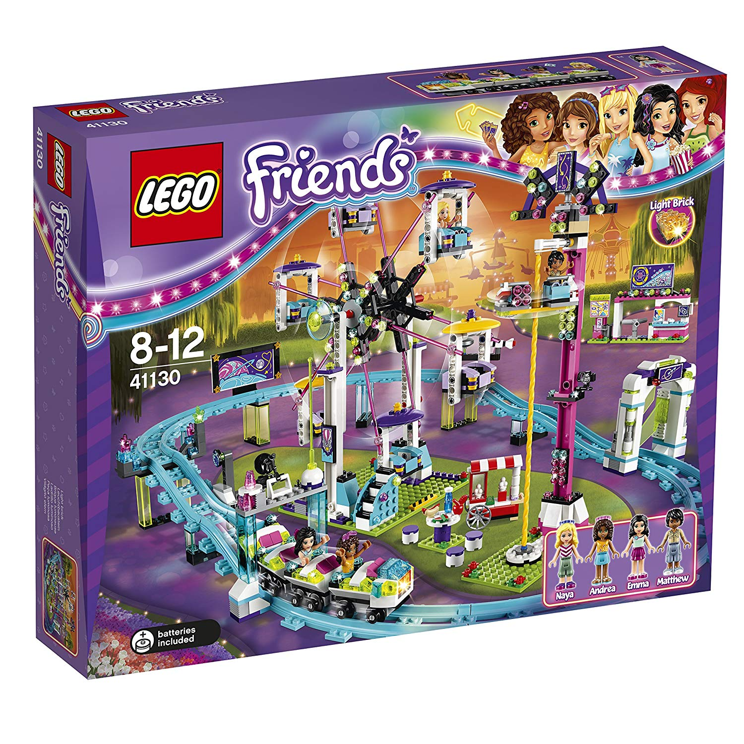 les montagnes russes du parc d attraction lego friends