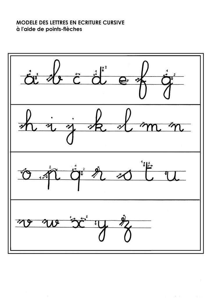 lettre cursive maternelle