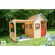 maison bois enfant jardin