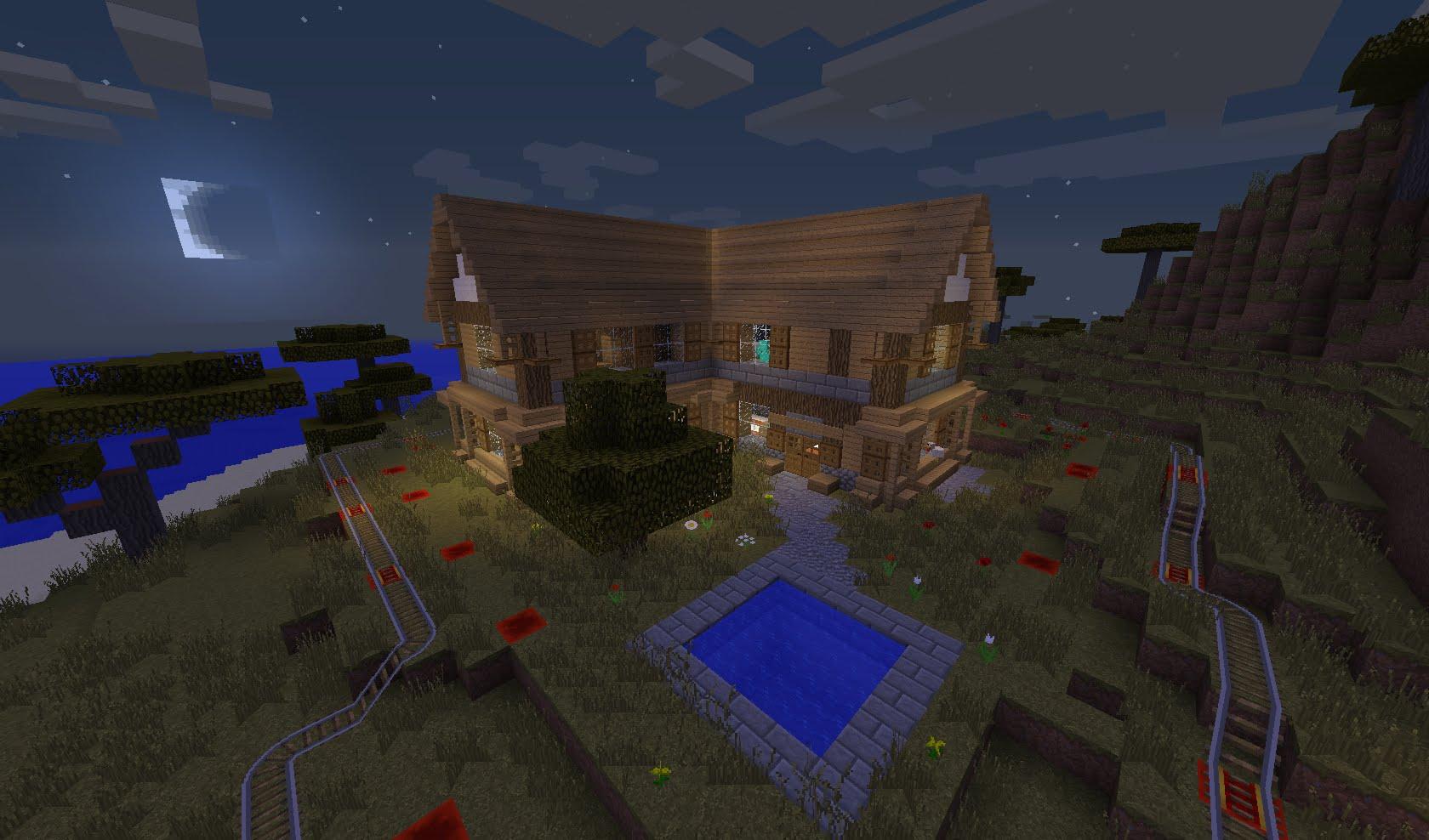 maison en pierre minecraft