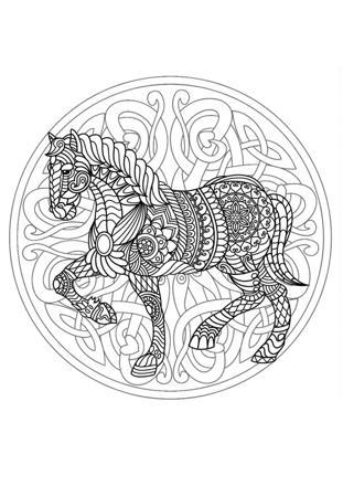 mandala de cheval