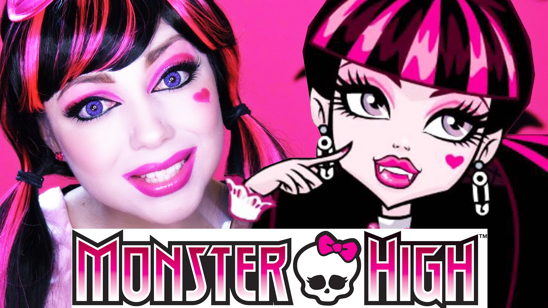 maquillage monster high draculaura