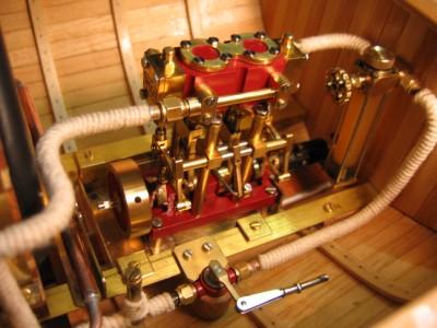 moteur vapeur bateau rc