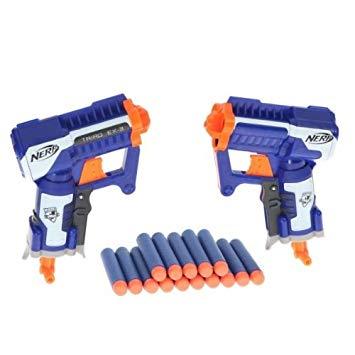nerf pack de 2 pistolets elite triade