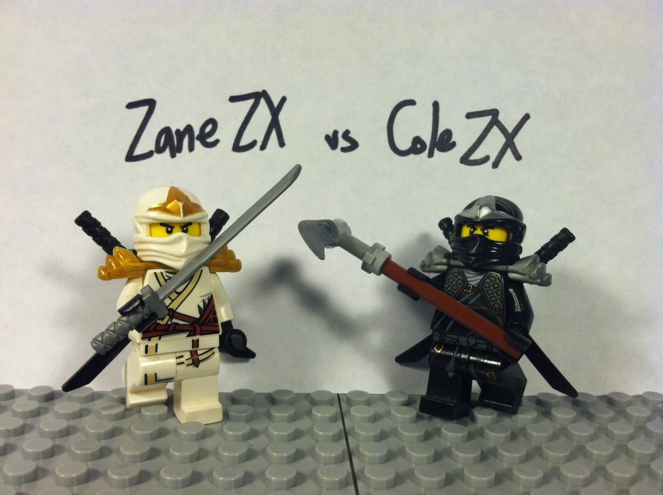 ninjago zane vs cole