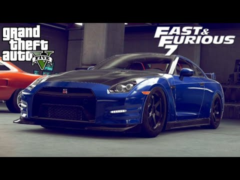 nissan gtr fast and furious 7