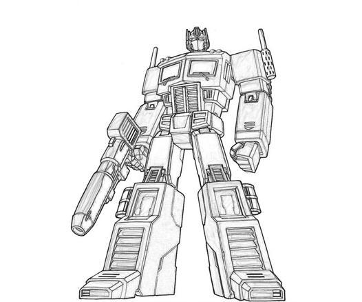 optimus prime dessin