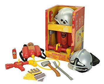 panoplie de pompier avec casque