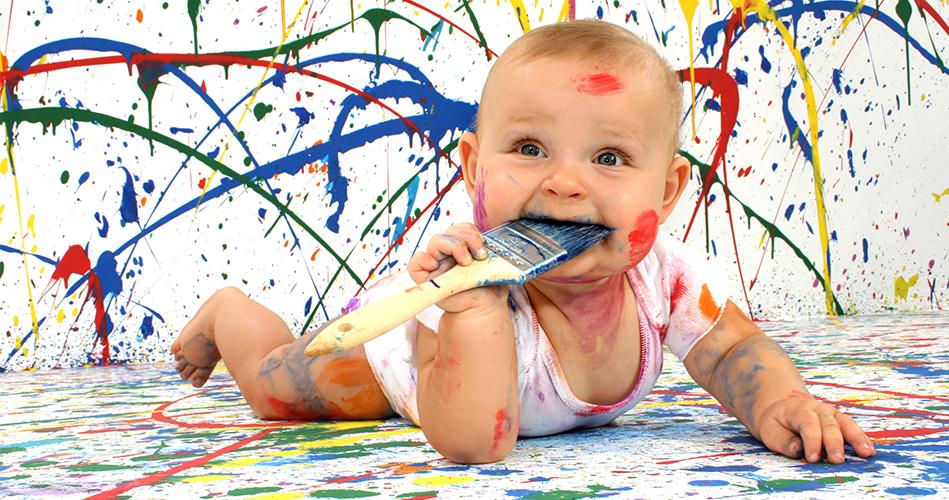 peinture pour bébé