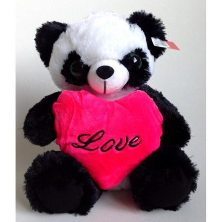 peluche panda coeur