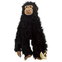 peluche ventriloque singe