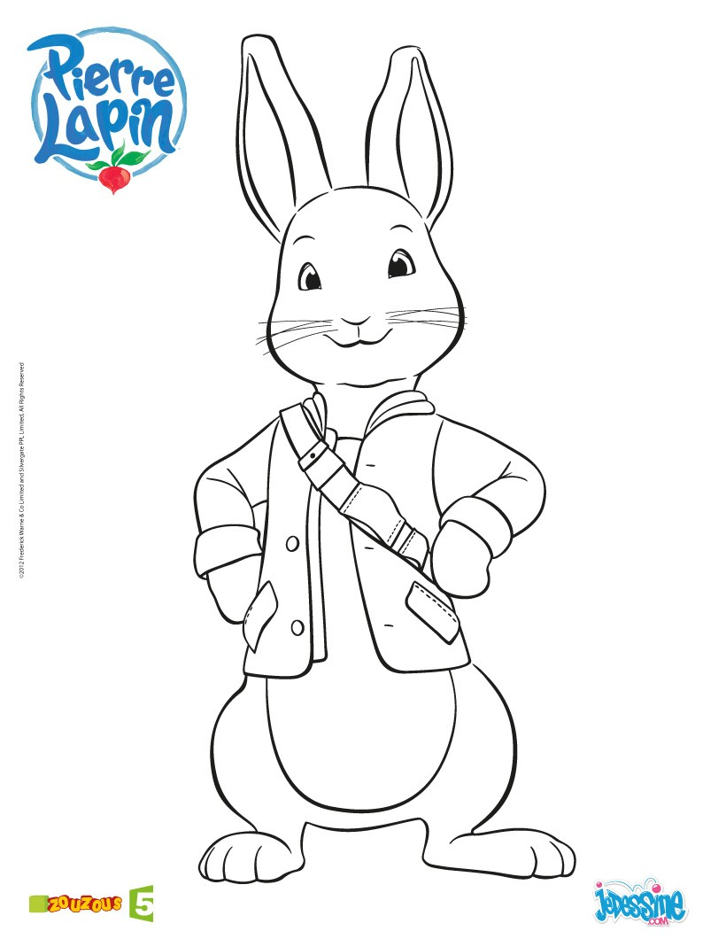 pierre lapin coloriage