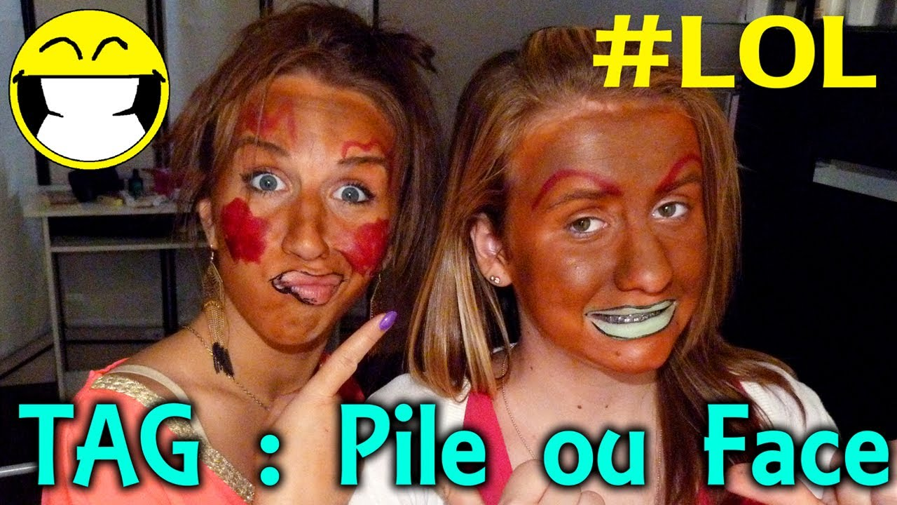 pile ou face maquillage