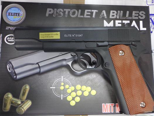 pistolet a bille elite