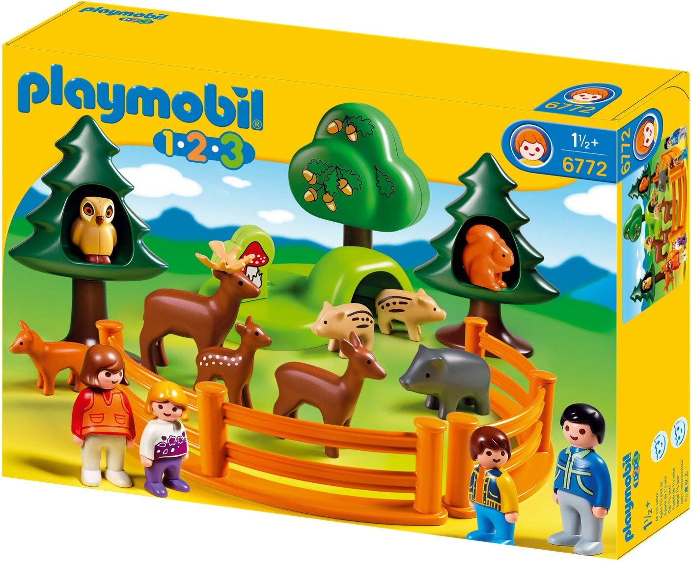 playmobil 123 animaux foret