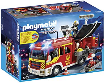 playmobil 5363 fourgon pompier gyrophare