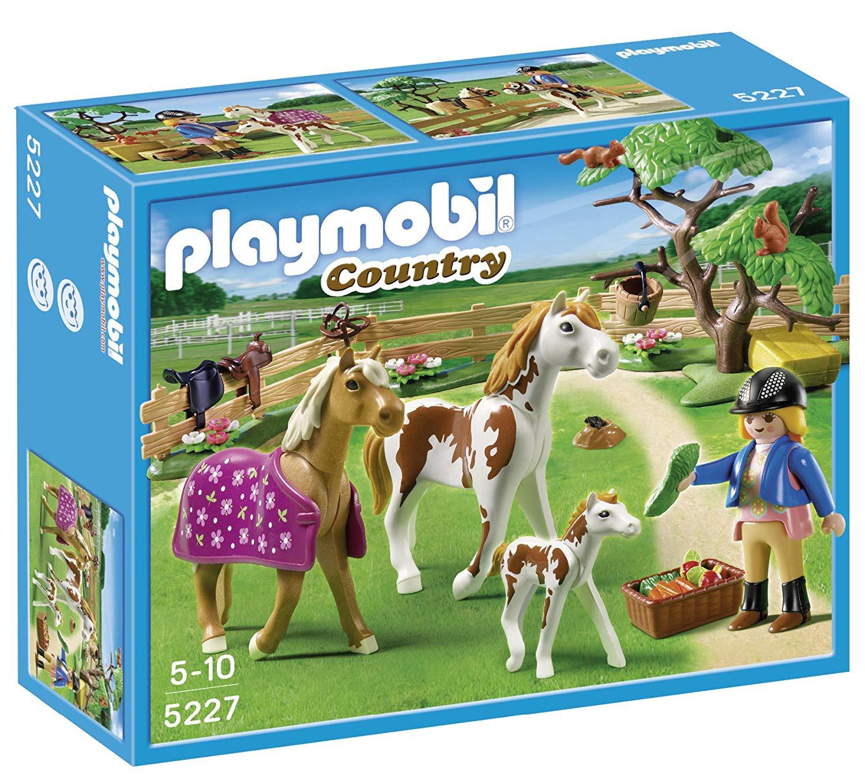playmobil chevaux et enclos