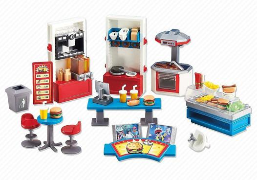playmobil fast food