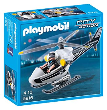 playmobil helicoptere police