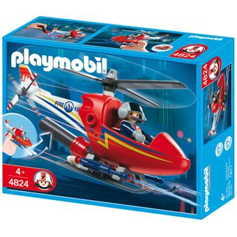 playmobil helicoptere pompier