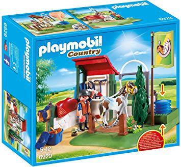 playmobil lavage chevaux